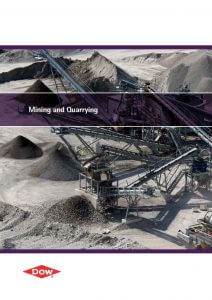 Image of brochure for DOW Mining & Quarrying