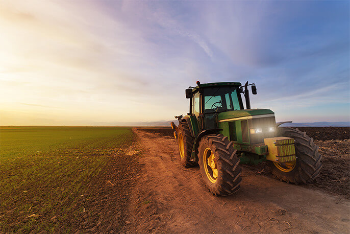 Photo of tractor in field