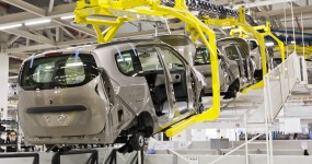 Photo of cars on a production line