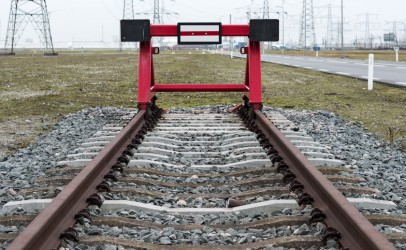 Photo of rail track with buffer stop