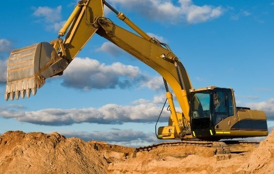 Image of construction site and plant machinery