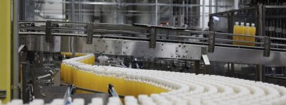 Image of production line with bottles
