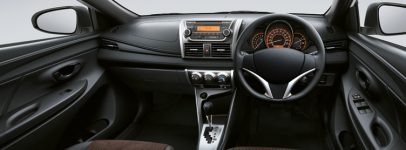 Photo of a car interior showing use of moulded materials