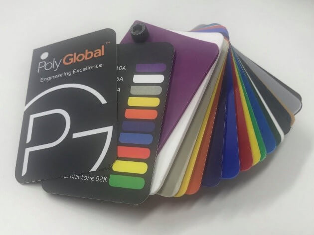 Image of Polyglobal's colour swatches