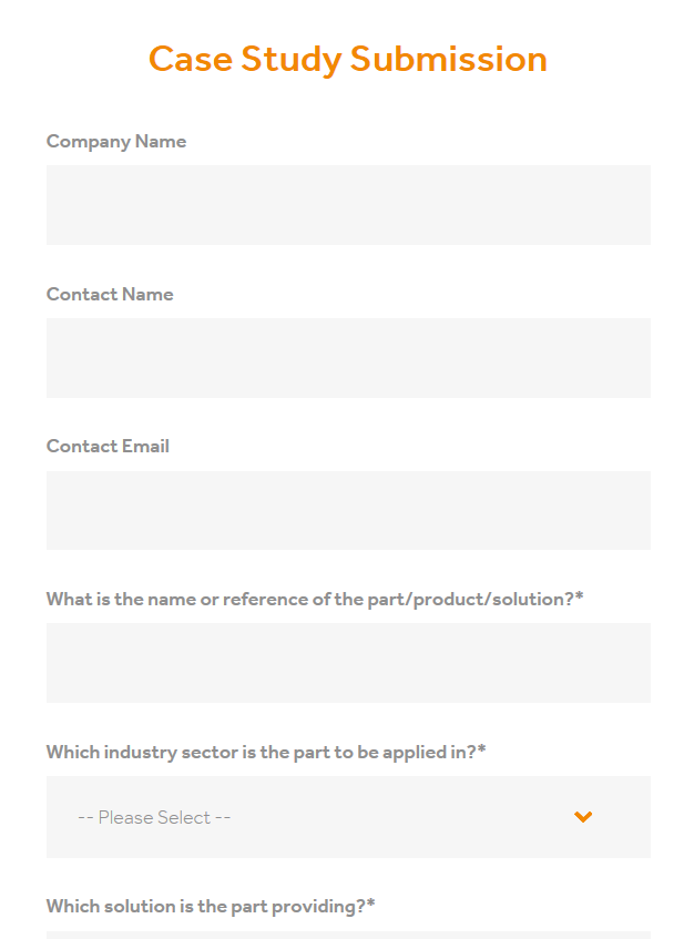 Case study submission blank form