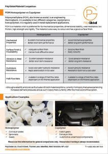 Image of Polyglobal material comparison fact sheet