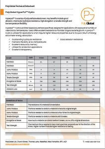 Image of Polyglobal Technical Data sheet for Hydro