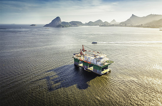 Photo of an offshore oil rig