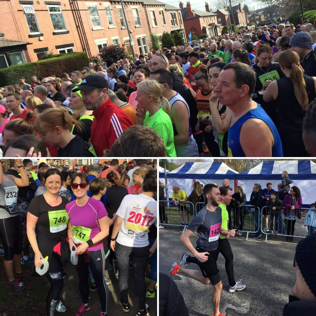 Images of the Polyglobal team taking part in Wakefield Hospice 10K run