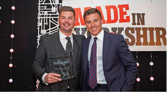 Polyglobal team receiving Made In Yorkshire Award