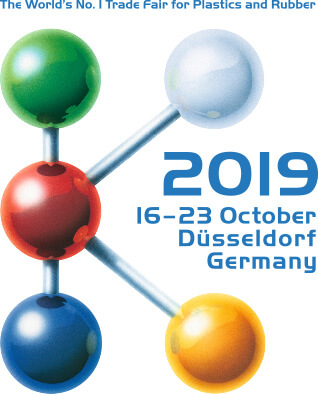 Advertising image for 2019 Trade Fair for Plastics and Rubber